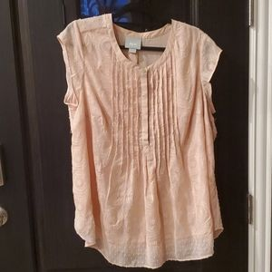 Anthropologie Maeve Soliloquy Textured Blouse